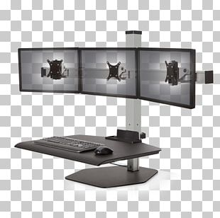 Sit-stand Desk Standing Desk Workstation Flat Display Mounting Interface PNG