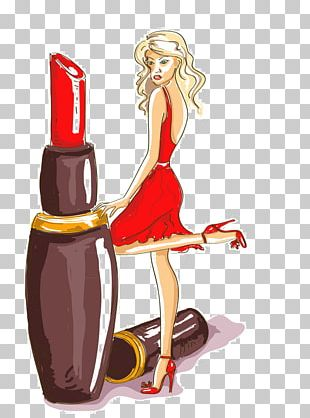 Fashion Illustration Lipstick Drawing PNG