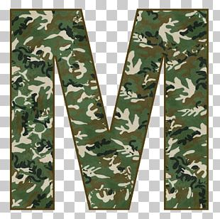 Letter Alphabet Military Camouflage PNG