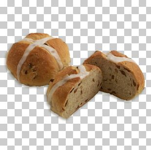 Rye Bread Hot Cross Bun Small Bread PNG