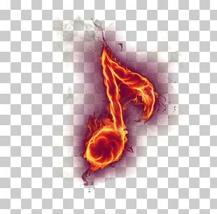 Musical Note Fire PNG