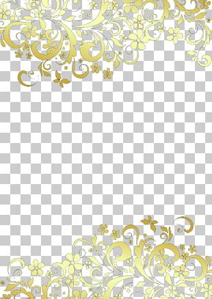 Gold Lace Pattern PNG