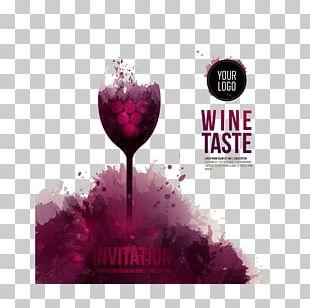 Wine Tasting Wedding Invitation Wine Glass Flyer PNG