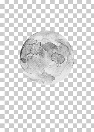 Watercolor Painting Ink Wash Painting Moon PNG