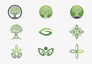 Cartoon Tree Logo High-definition Buckle Material PNG