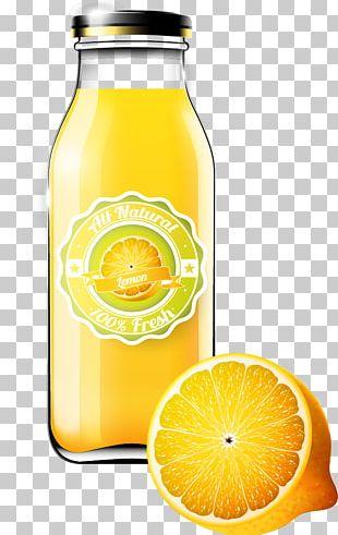 Orange Juice Orange Drink Bottle PNG