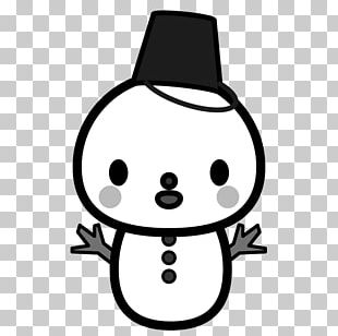 The Snowman Black And White PNG