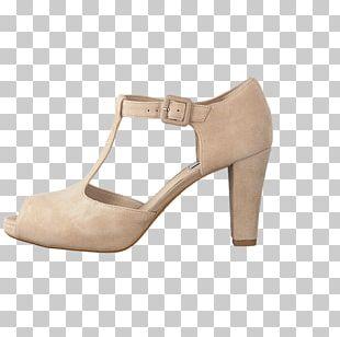 Beige Suede Sandal Shoe C. & J. Clark PNG