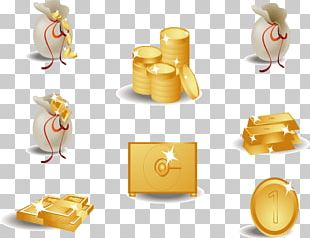 Gold Coin Money Icon PNG