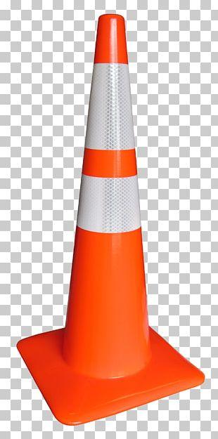 Traffic Cone Orange Red PNG