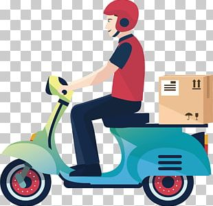 Delivery Motorcycle Courier Logistics Service PNG