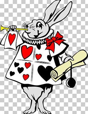 Alices Adventures In Wonderland White Rabbit Queen Of Hearts PNG