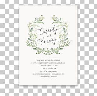 Wedding Invitation Paper Laurel Wreath PNG