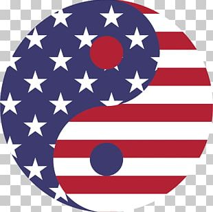 Flag Of The United States Yin And Yang Symbol PNG