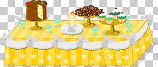 Table Mundo Gaturro Christmas Cake PNG