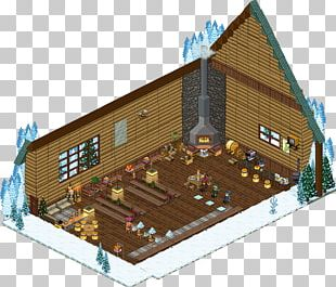Log Cabin House Roof Facade Cottage PNG