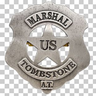 Tombstone Gunfight At The O.K. Corral American Frontier United States Marshals Service Badge PNG
