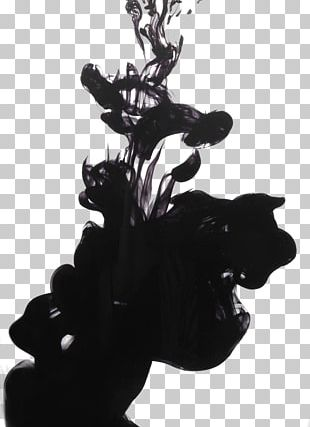 Black And White Ink PNG