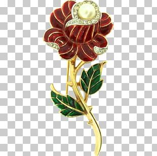 Rose Family Cut Flowers Brooch PNG