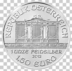 Austrian Silver Vienna Philharmonic Bullion Coin Gold PNG