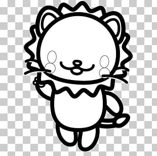 Bear Black And White Lion PNG