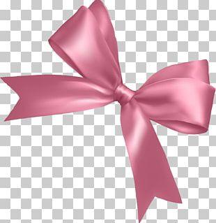 Pink Ribbon Pink Ribbon Shoelace Knot PNG