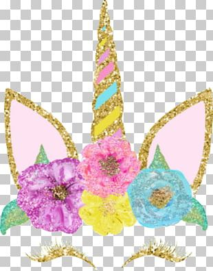 Unicorn Flower Petal Crown PNG