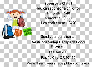 Food Child Student School Backpack PNG
