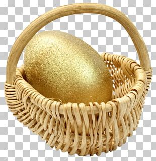 Easter Bunny Egg In The Basket Easter Egg PNG