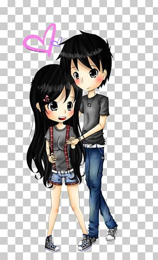 Love Anime Couple PNG