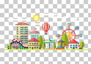 Amusement Park Ferris Wheel PNG
