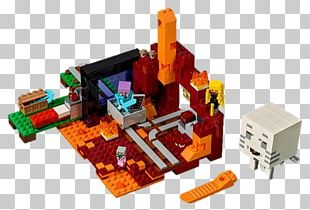 LEGO Minecraft The Nether Portal Hamleys Toy PNG