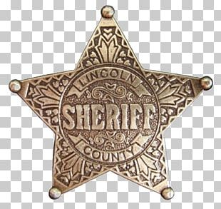American Frontier United States Of America Sheriff Badge Police PNG