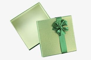 Open Green Gift Box PNG