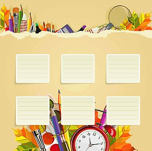 Student School Timetable Template PNG