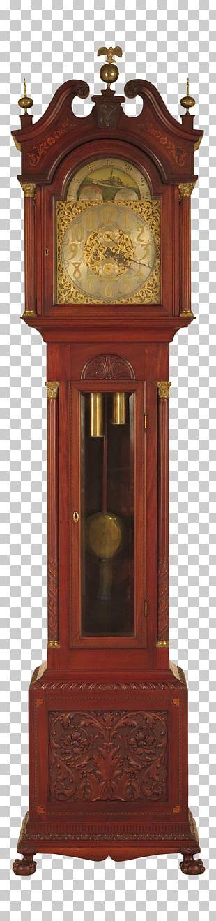 Floor & Grandfather Clocks Furniture Antique Mantel Clock PNG