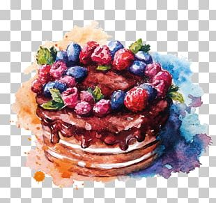 Layer Cake Watercolor Painting Drawing PNG
