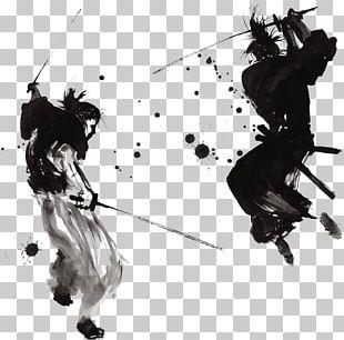 Samurai Drawing Painting Art Warrior PNG