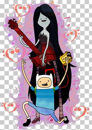 Marceline The Vampire Queen Finn The Human Princess Bubblegum Ice King Jake The Dog PNG