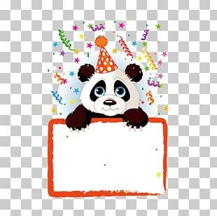 Giant Panda Birthday Stock Photography PNG