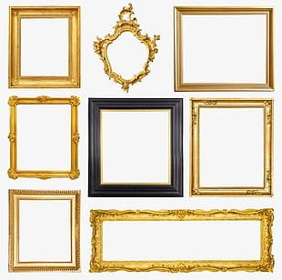 French Photo Frame PNG