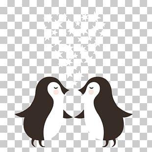 Penguin Wedding Invitation Christmas Card Postcard PNG