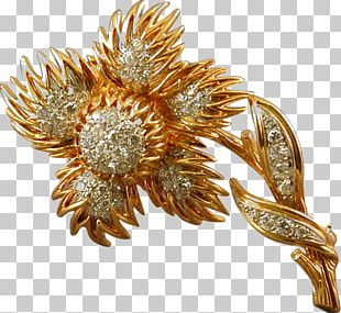 Brooch Van Cleef & Arpels Jewellery Diamond Gold PNG