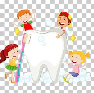 Children Brush Their Teeth PNG