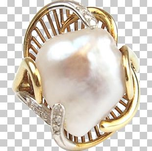 Gemstone Baroque Pearl Silver Gold Material PNG