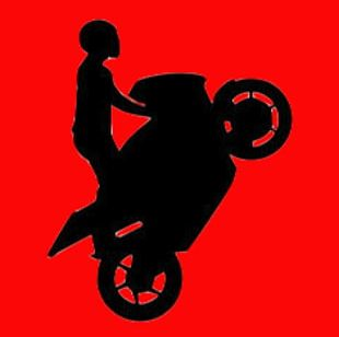 Doodle Stickman Bike Stunt Motorcycle Stunt Riding Drawing PNG