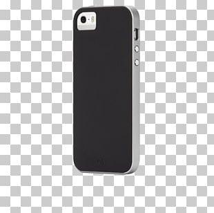 Smartphone Case-Mate Black & Silver Apple Futerał PNG