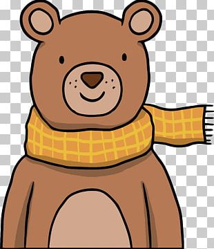 Brown Bear Drawing Illustration PNG