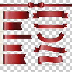 Paper Red Ribbon PNG