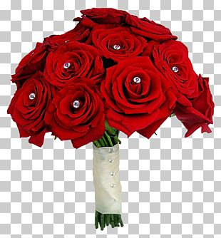 Flower Bouquet Rose Red Wedding PNG